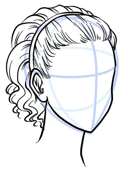 outline  hair style   scribbley  description