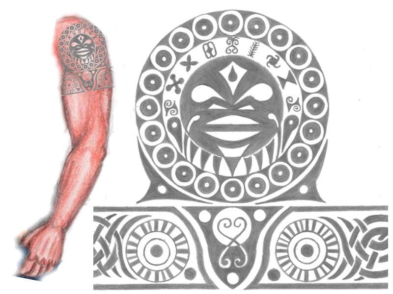 American African Tattoo Design