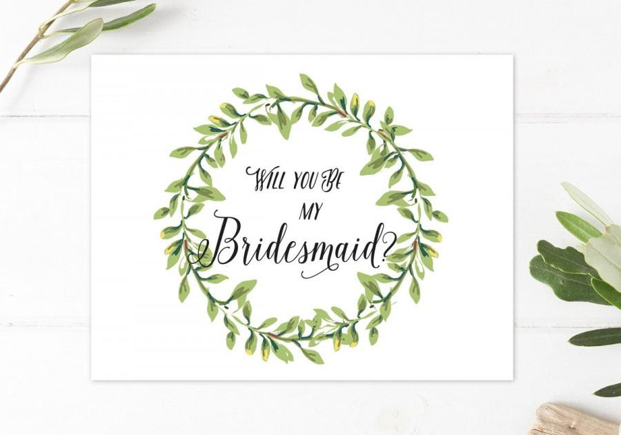 Will You Be My Bridesmaid Rustic Boho Bridesmaid Card Will You Be