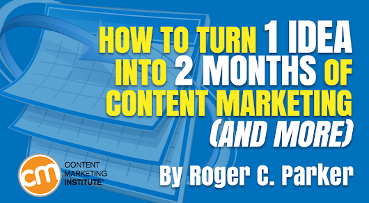 How to Turn 1 Idea into 2 Months of Content Marketing (and More)