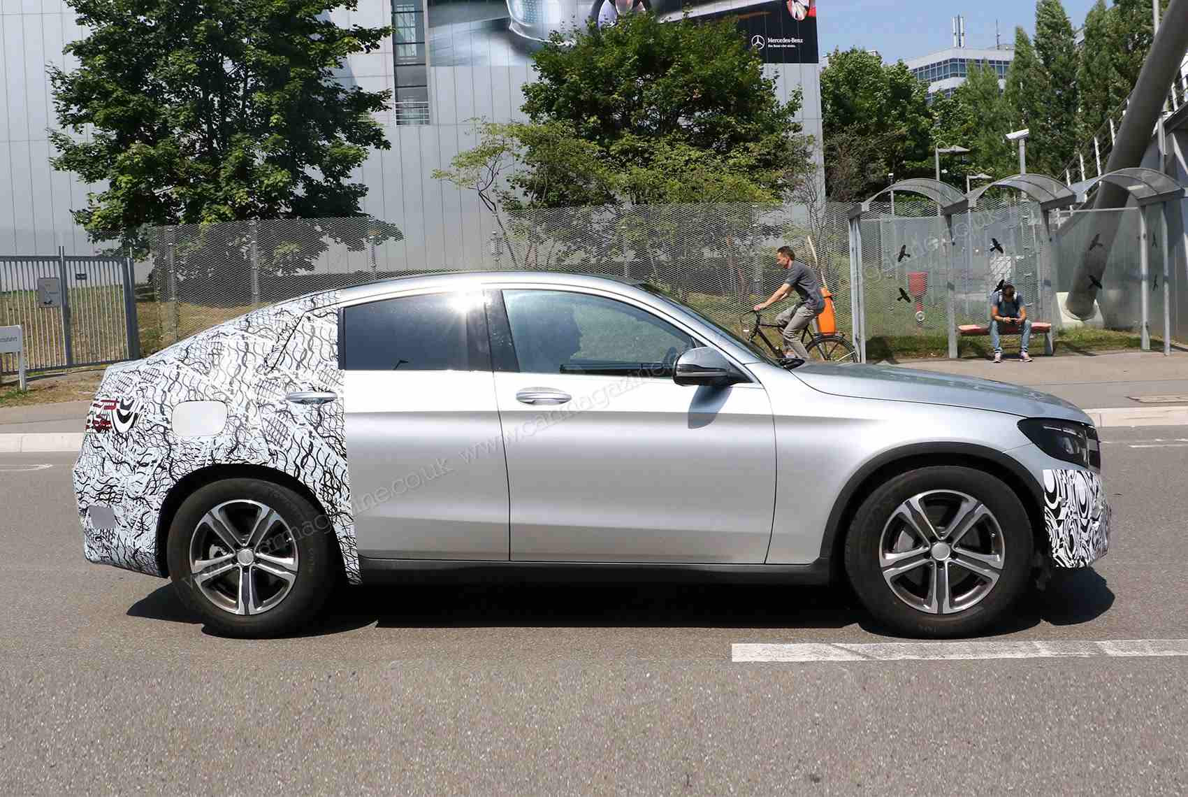 Mercedes-Benz GLC Coupe Spied with Minimal Camo