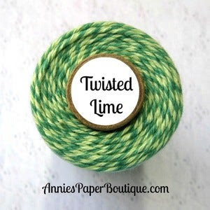 Image of Twisted Lime Trendy Twine {Light Green & Dark Green Bakers Twine}