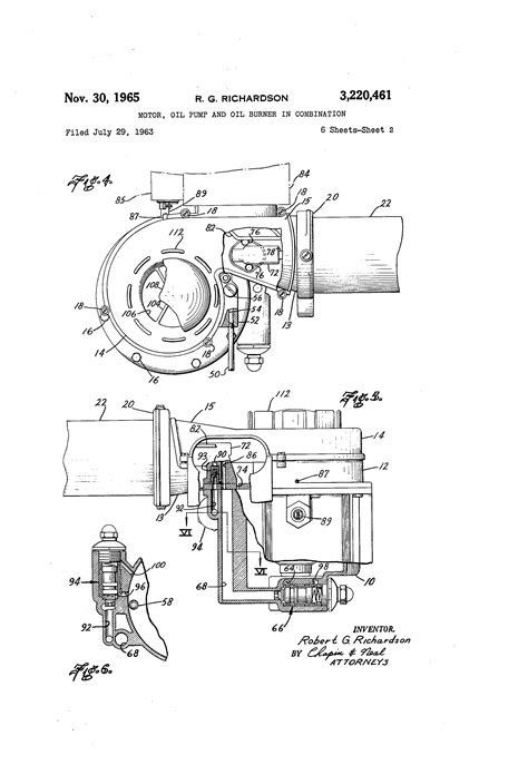 Patent US3220461 - Motor, oil pump and oil burner in