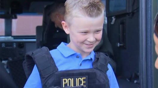 Nevada boy sells lemonade to raise money for fallen officers, gets surprise from police department