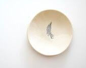 little bits Ceramic Mini Plate grey feather - alluvial