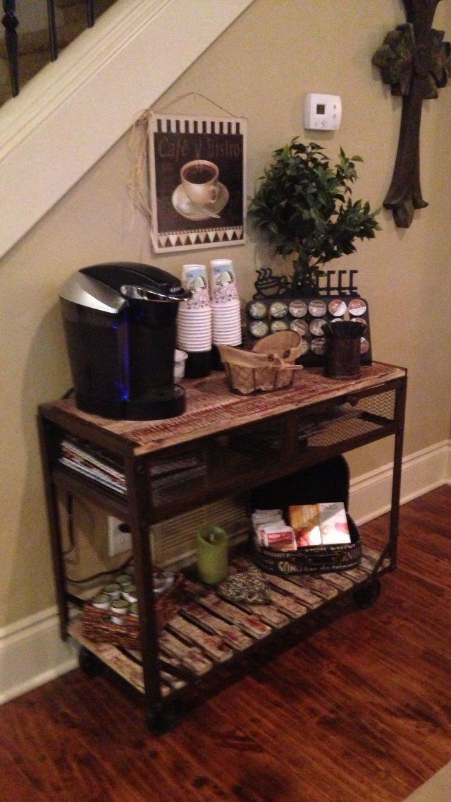 coffee bar in the living room. | Coffee Corner. | Pinterest