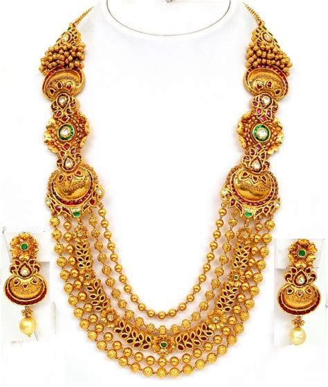 Gold Necklaces Designs in Dubai   vbj gold necklace