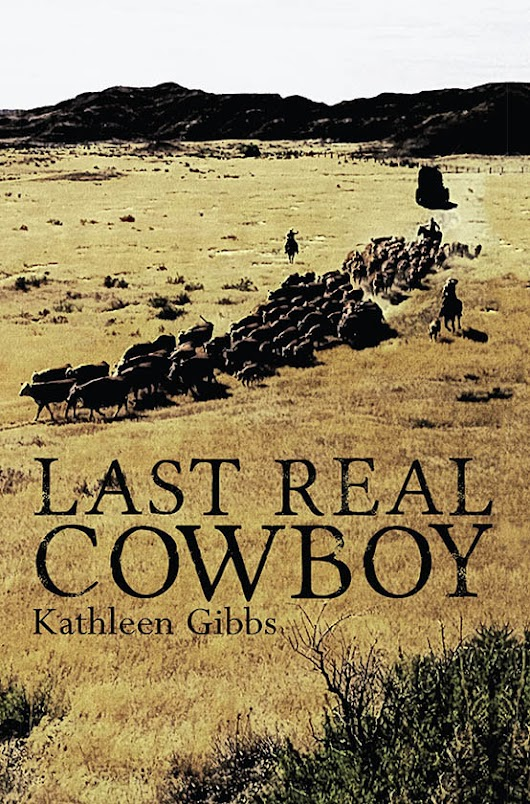 LAST REAL COWBOY ~ cover design for Kathleen Gibbs (@Kathygauthor) and 4RV Publishing (@4RV)