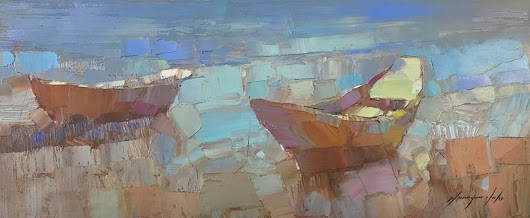 Boats Painting by Vahe Yeremyan | Saatchi Art