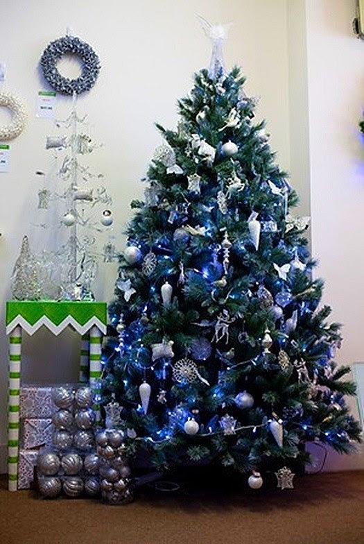 Hogarisimo arboles de navidad en azules y morados - Decoracion arbol navidad 2014 ...