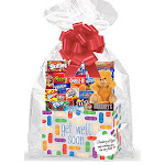 Cakesupplyshop Get Well Soon Bandaid Thinking of You Cookies, Candy & More Care Package Snack Gift Box Bundle Set