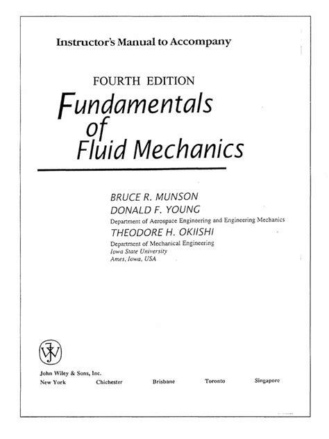 Solution Manual - Fundamentals of Fluid Mechanics (4th