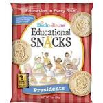 Dick & Jane, Educational Snack, Presidents (1 OZ, 120 Per Case)
