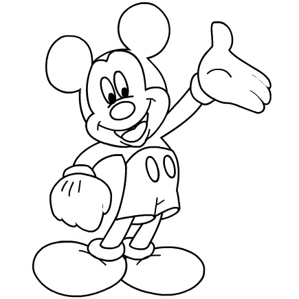 Coloring Pages For Kids: Coloring Pages For Kids Mickey Mouse