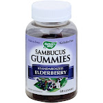 Natures Way Sambucus, Standardized Elderberry, Gummies - 60 gummies