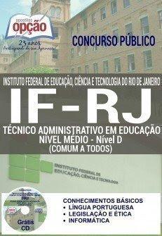 Apostila IFRJ-RJ 2016 Concurso para Técnico Administrativo do Instituto Federal RJ.