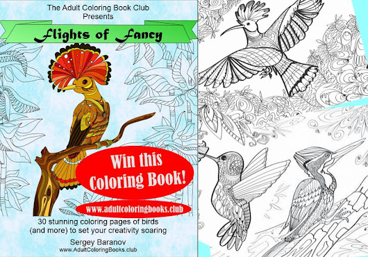 Free Adult Coloring Book Giveaway - Adult Coloring Book Club