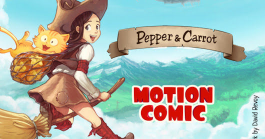 Pepper and Carrot motion comic