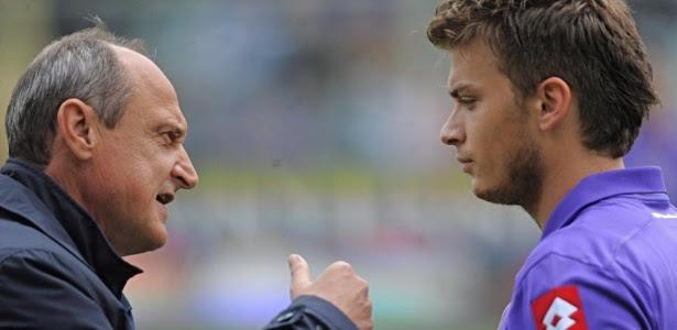 Delio Rossi e Adem Ljajic se desentederam em partida contra o Novara