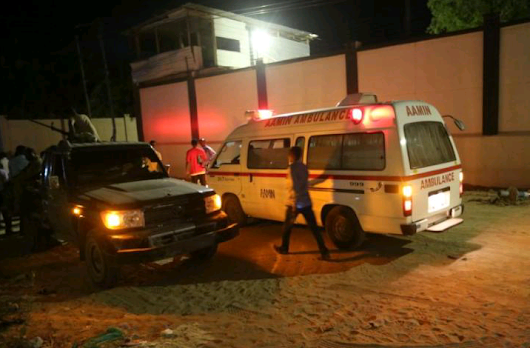 At least 20 people being held hostage in Somalia's capital after suicide bomb attack