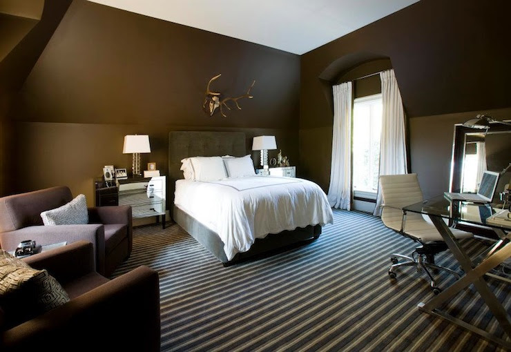 Chocolate Brown Bedroom - Contemporary - bedroom - Melanie Turner ...