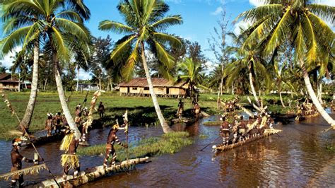 full hd wallpaper boat palm kongo ikelemba river tropic