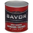 Savor 147151 Mandarin Orange Whole Segments Syrup 6-10 Can, Price/Case