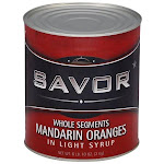 Savor 147151 Mandarin Orange Whole Segments Syrup 6-10 Can, Price/Case