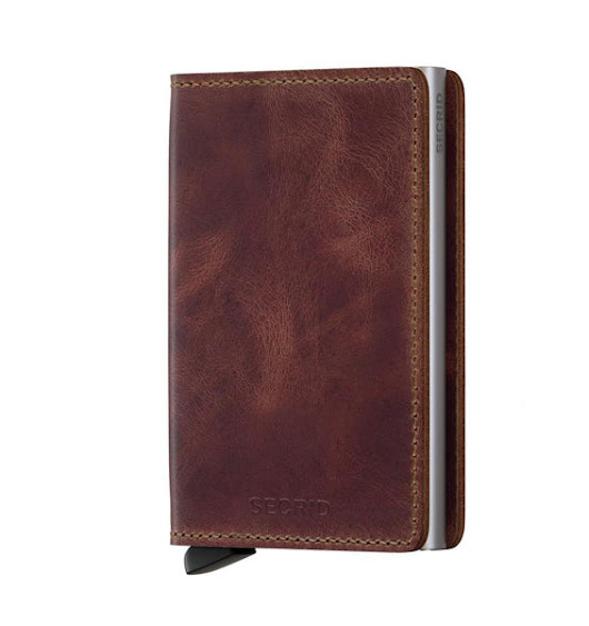 SECRID Slimwallet Vintage Brown - Free UK/EU Delivery - Slim Wallet Junkie