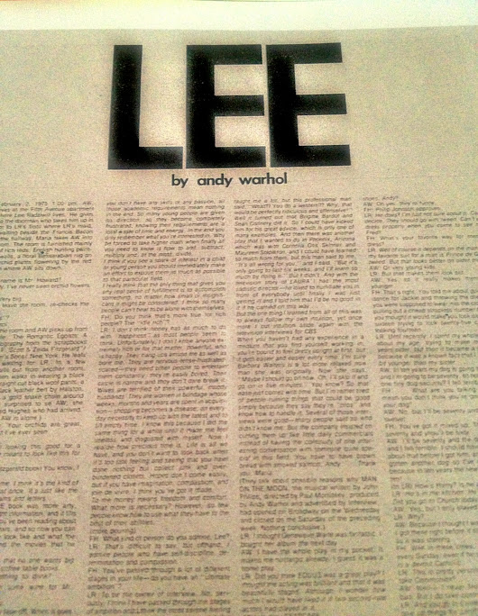 "Steven Lee pres ""LEE"" by Andy Warhol Summer 2013 Mix Tape"
