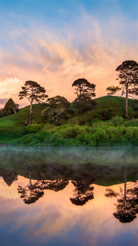 hobbiton   morning samsung galaxy  wallpapers hd