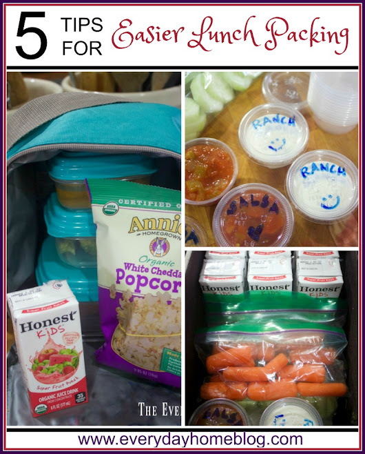 Easy Lunch Packing Tips | The Everyday Home | www.everydayhomeblog.com