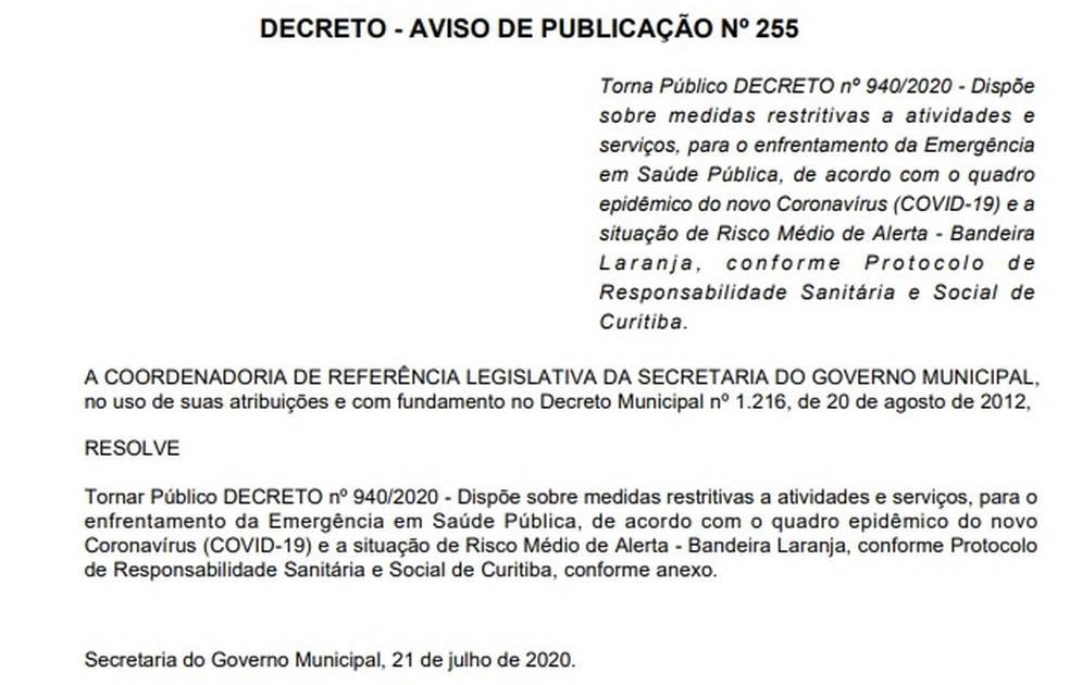 Decreto Curitiba / Curitiba Decreta Lockdown Ate 21 De ...