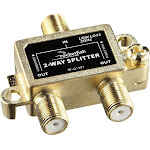 Rocketfish - 2-Way Coaxial Splitter - Gold RF-G1307