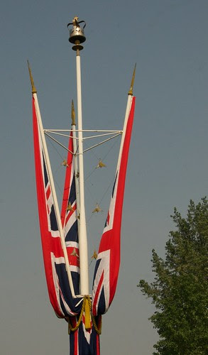 Union Flags ready for the Wedding