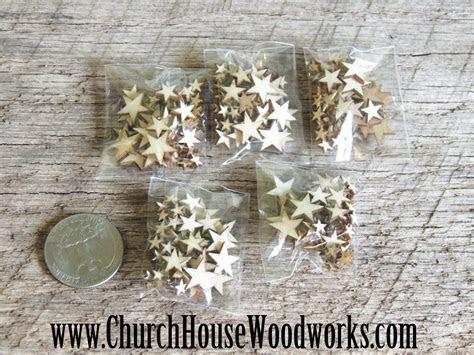 50 Tiny Mini Wood Stars  DIY Crafts Or Rustic Wedding