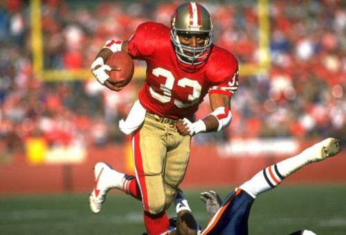 DID YOU KNOW?<br />Roger Craig became the first player in NFL history to rush and receive for at least 1,000 yards in the same season.