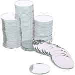 """120 Pack Craft Round Mirror Mosaic Tiles 1"""" for DIY Projects Art & Crafts Home Decorations"""