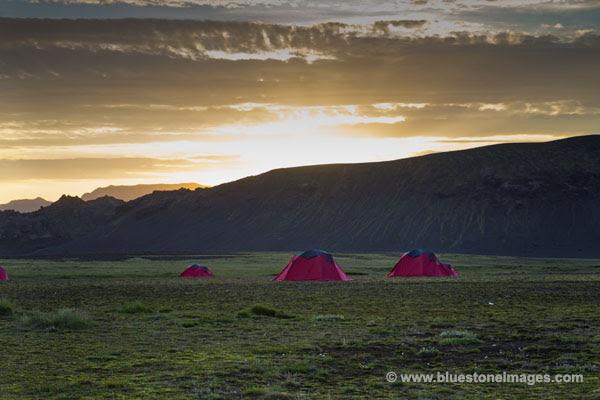 01M-0438a Temp Sunset at Alftavatn Iceland