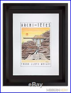 Frank Lloyd Wright Original Lithograph By Louis Hellman Signed Rare
