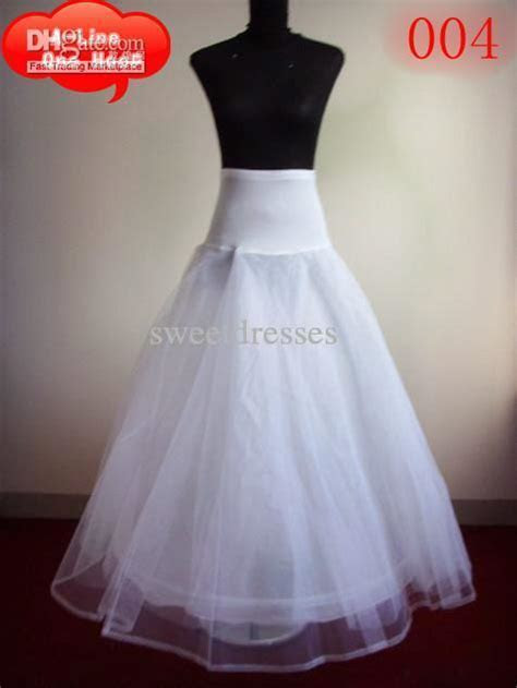 2016 Cheapest A Line Bridal Petticoats One Hoop Wedding