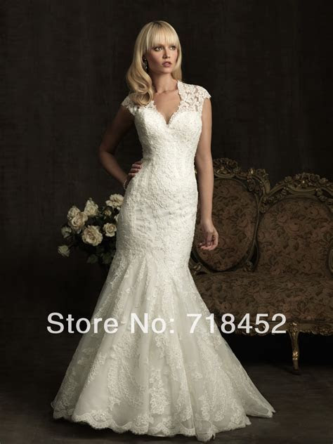 2014 Country Style Wedding Dresses Mermaid Lace Keyhole