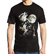 Amazon.com: The Mountain Men's Three Wolf Moon Short Sleeve T-Shirt: Clothing