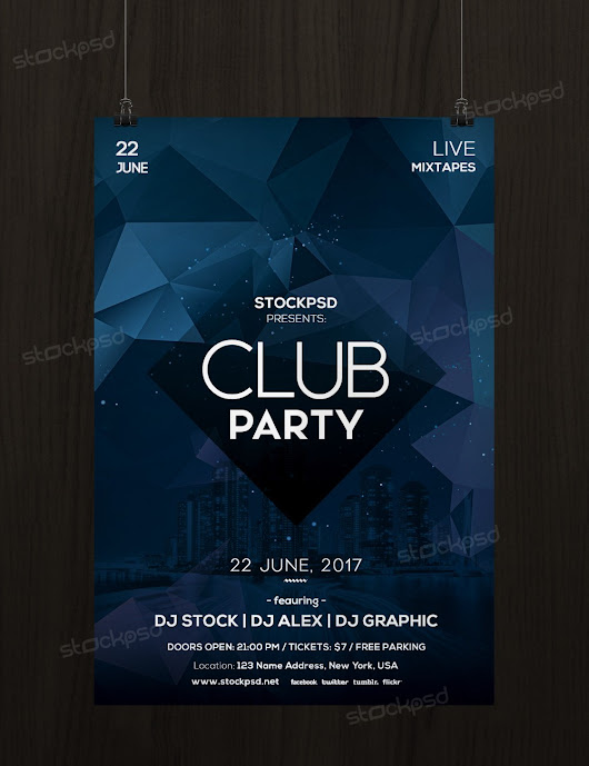 Club Party - Free Minimal PSD Flyer Template - Stockpsd.net
