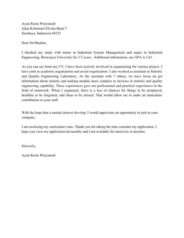 contoh cover letter juruteknik contoh resume dan cover letter terbaik contoh u