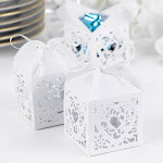 Hortense B. Hewitt 30325 White Square Decorative Favor Boxes