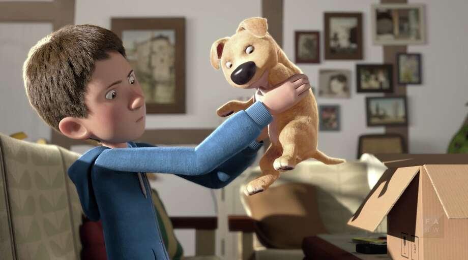 Animação sobre filhote de cachorro de três pernas
