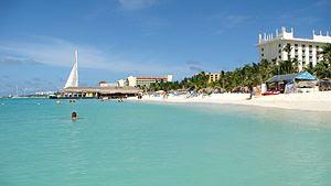 English: Aruba. Palm Beach