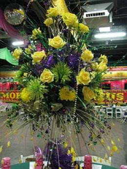 Inexpensive Mardi Gras Centerpiece Ideas