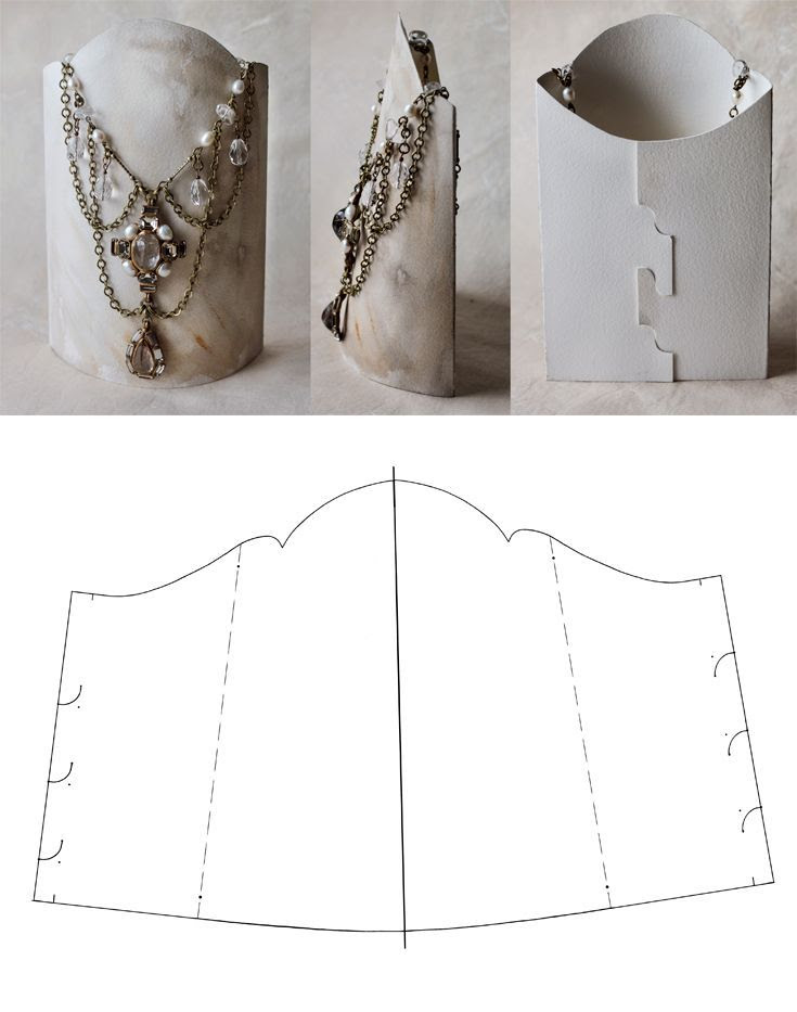 DIY || Handmade display stand for necklaces |  ©KotomiCreations.  ||  Click through and you will find other options as well :-)  including the templates and how to